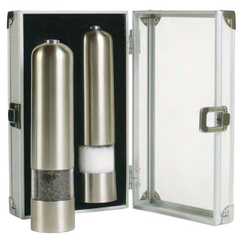Checkout Grand Cuisine Electric Salt & Pepper Mill Set, Stainless Steel cheapest
