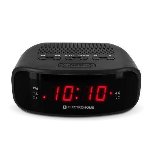 electrohome digital am fm clock radio with battery backup dual alarm sleep. Black Bedroom Furniture Sets. Home Design Ideas