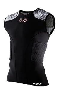 McDavid Hex 5-Pad Sleeveless Shirt, Black, X-Large by McDavid