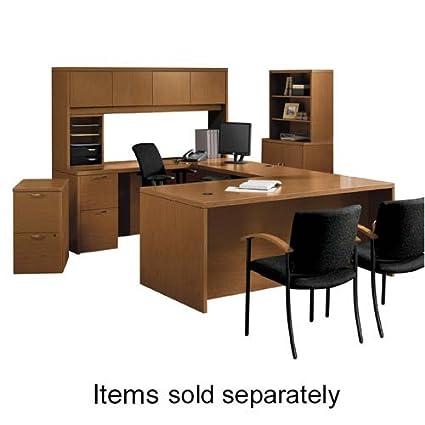 """o HON Company o - 5-Shelf Bookcase, 36""""x13-1/8""""x71"""", Mahogany"""