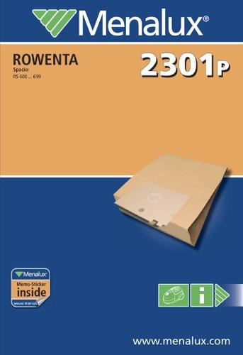Menalux 2301 P, 5 Staubbeutel, Papier, passend für Rowenta
