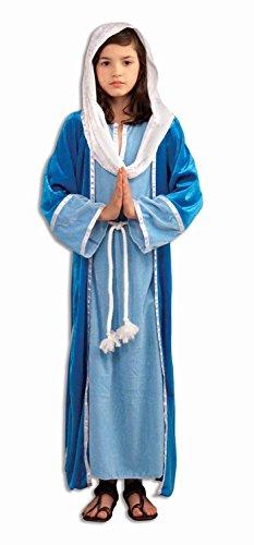 [Biblical Virgin Mary Kids Costume Large(12-14)] (Girls Virgin Mary Costume)