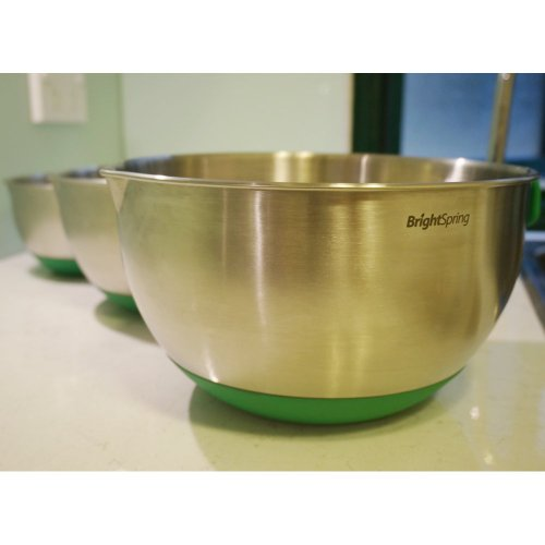 Brightspring Mixing Bowls 3 Piece Stainless Steel Set