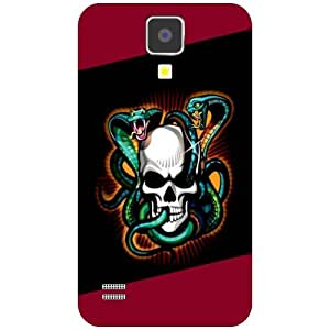 Samsung I9500 Galaxy S4 Phone Cover -Skulled Matte Finish Phone Cover