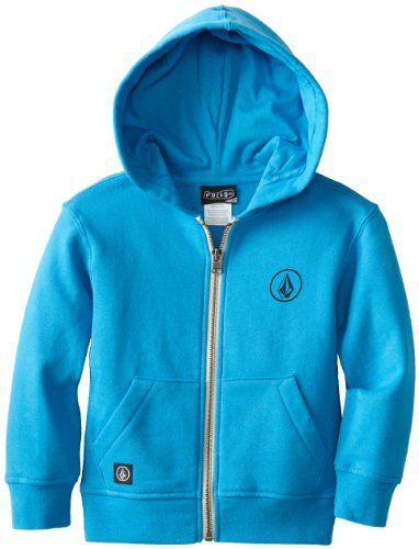 Volcom Little Boys' Standards Zip Youth Athletic Hoodie, Electric Blue, 4T