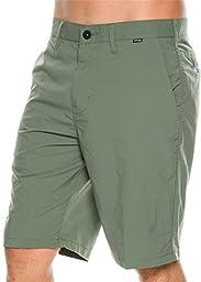 Hurley Men\'s Dri-Fit Chino Walkshort, Iron Green, 30