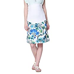 Mamacouture Women's Maternity Skirt (MCBPBS8M_Blue _38)