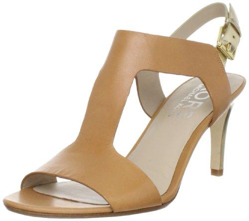 Kors Michael Kors Women'S Xyla T-Strap Sandal,Tan/Gold,7 M Us