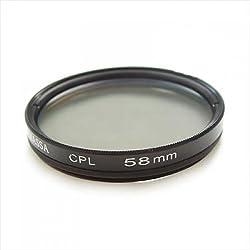 Imported 2 Pack MASSA 58mm CPL Filter for Camera Camcorder DV