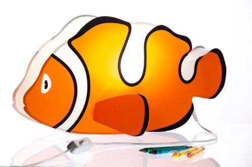 Nursery Lamp & Kid's Room Light - Colorful LED Decorative Lamp - Clownfish Design