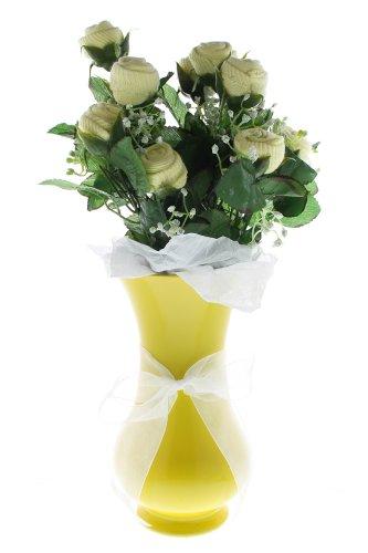 Girl'S Small Bootie Bloom - Yellow Socks - Yellow Vase