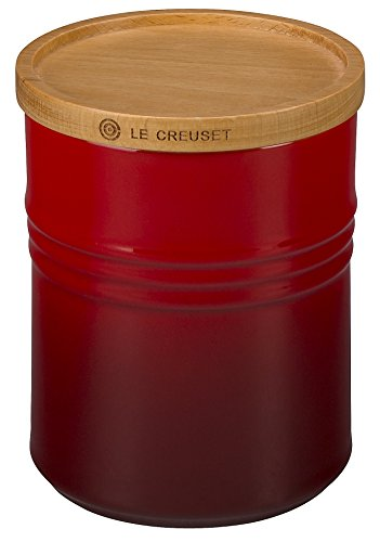 Red Le Creuset Kitchen Canister