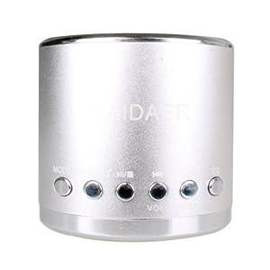 Mini Enceinte acoustique Stéréo Kaidaer MN02, Son Surpuissant - Couleur Argent pour MP3 MP4 Ordinateur portable