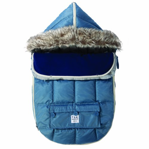 500 Le Sac Igloo Car Seat/ Stroller Blanket Size: Large (18 Months-3T), Color: Denim front-1068764