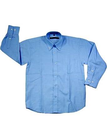 Perry Ellis - Big Boys Long Sleeve Button Down Dress Shirt, Blue 13082-10