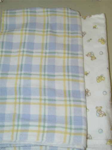 2 Carters Carter'S Just One 1 Year Unisex Crib Receiving Blanket Flannel 7911 front-385550