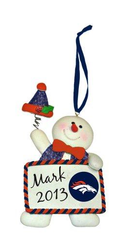 Denver Broncos Led Santa And Snowman Christmas Ornaments