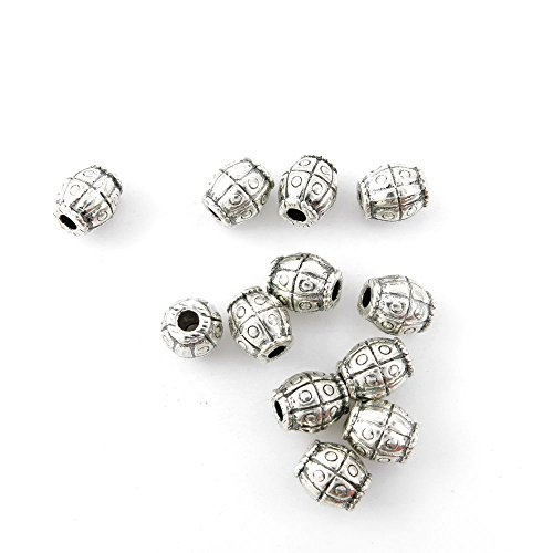 Price per 50 Pieces Jewelry Making Charms 03549 Loose Beads Ancient Silver Findings Accessoires Craft