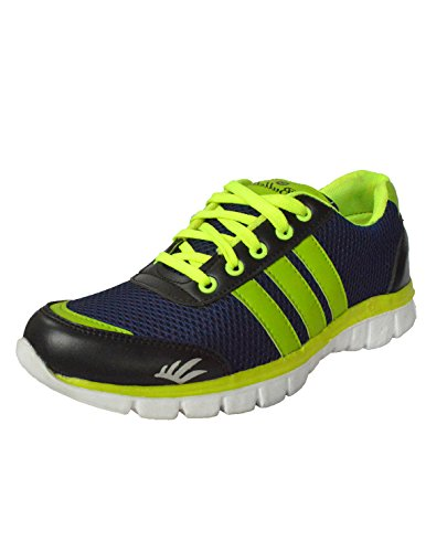 NYN Men Green Mesh Lace-up Sports Shoes