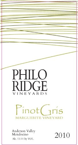2010 Philo Ridge Vineyards Pinot Gris Marguerite Vineyard 750 Ml