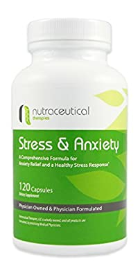 Natural Stress & Anxiety Relief - Created by Medical Doctors for Anxiety, Stress, Panic Attack, and Depression Relief (120 Capsules)