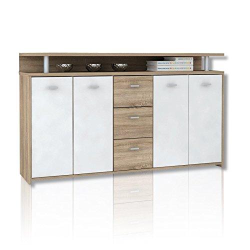 ROLLER-Sideboard-PABLO-Eiche-weiss-moderne-Optik-152-cm