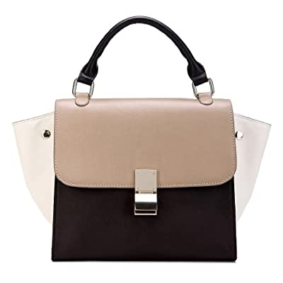 Iuha Top Grain Leather Trapeze Baguette Bag Multicolor Tote Bag