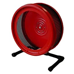 Pet Exercise Wheel, Pet Wheel for Sugar Gliders, Rats--Stealth Wheel; Red with Stand