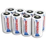 8 pcs of Tenergy Premium C Size 5000mAh High Capacity High Rate NiMH Rechargeable Batteries