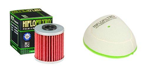 Oil and Dual-Stage Foam Air filter Kit for SUZUKI RMX450 Z L0,L1,L2,L3 10-13 HIFLO FILTRO