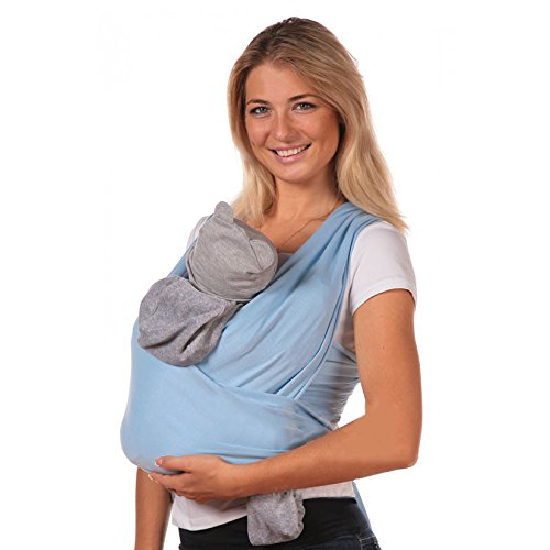 Baby-Sling-Carrier-by-AmBaby-Soft-and-Stretchy-Baby-Wrap-for-Newborns-Infants-and-Toddlers
