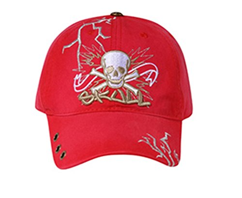 "Hats & Caps Shop 3D ""Skull"" 3 Metal Eyelets on Visor Caps - By TheTargetBuys"