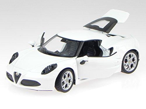 Alfa-Romeo-4C-4-C-weiss-Modellauto-24048-Welly-124