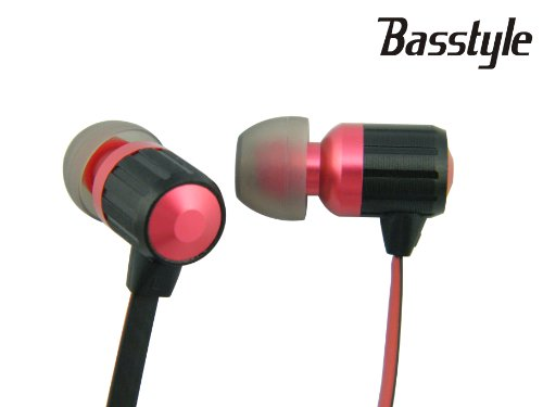 Ti-95F Basstyle 3.5 Mm Stereo Noodles Earphone Handsfree Headphone Music Earbud Earpiece With Stylish Durable Bicolor Flat Cable Fit For Tablet Mp3 Palm Psp And Most Cellphones With Best Bass Clear Sound