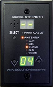 Winegard RFL-332 SensarPro Black TV Signal Strength Meter