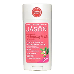 Jason Unscented Deodorant Stick for Women, Naturally Fresh, 2.5 Ounce