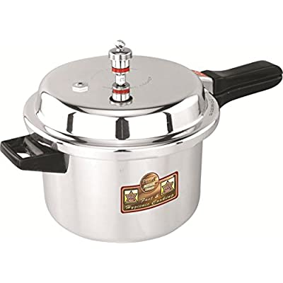 Anmol Outer Lid Aluminium Pressure Cooker-10 LTR. With Interlocking System