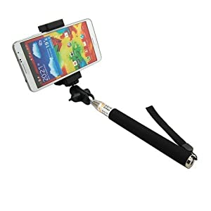 generic extendable self portrait selfie handheld stick monopod with smartphone. Black Bedroom Furniture Sets. Home Design Ideas