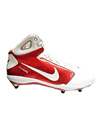 Nike Zoom HyperFly D Men's Detachable Football Cleats (13, White/Red) [Apparel]
