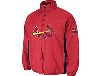 St. Louis Cardinals Red Authentic Double Climate On-Field Jacket by Majestic