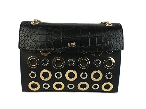 CAVALLI CLASS #F.A.M.E. borsa tracolla donna PELLE BLACK CMB.003 U
