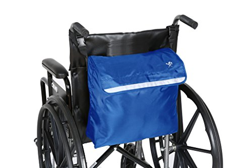 Pembrook Wheelchair Backpack Bag - Blue - Great accessory pack for your mobility devices. Fits most Scooters, Walkers, Rollators - Manual, Powered or Electric Wheelchairs