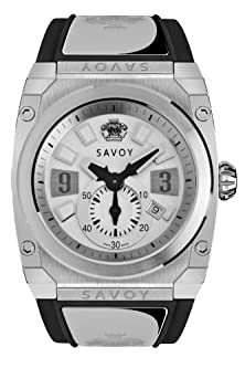 buy Savoy Icon Extreme - 3 Hand - Stainless Steel - Black Strap - Logo - Men'S Watch