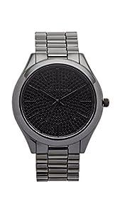 Michael Kors Women's Slim Runway Black Watch MK3449