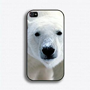 polar bear 1 iphone case for 4 and 4s plastic black color