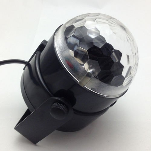 Esscoe Mini Stage Lighting Effect 3W Full Color Led Crystal Voice-Activated Rotating Rgb Stage Light Dj Disco Home Lamp Ac110V-240V