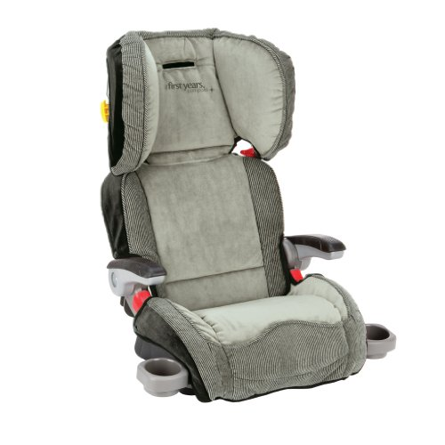 The First Years Compass Booster Seat, Retro Rails Stripe