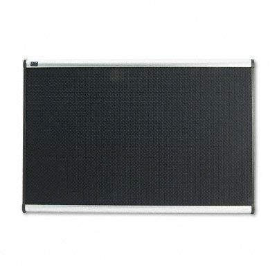Quartet B343A Quartet Embossed Bulletin Board, Hi-Density Foam, 36X24, Blk, Gy Aluminum Frame