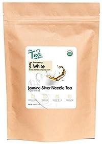 Organic Jasmine Silver Needle - White Tea - Jasmine Scented - Loose Leaf Tea by The Tea Company - Bulk Tea Leaves 4oz Makes 45-60 Servings