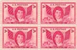 Francis Scott Key Set of 4 x 3 Cent US Postage Stamps NEW Scot 962 by USPS